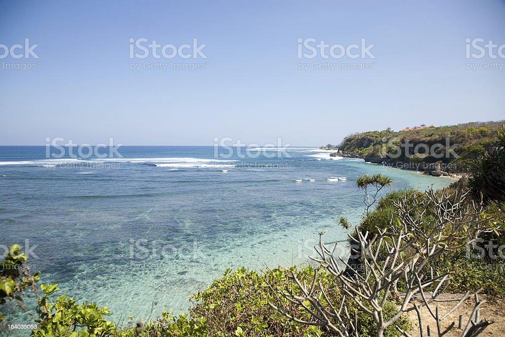 Nusa Dua beach Bali stock photo