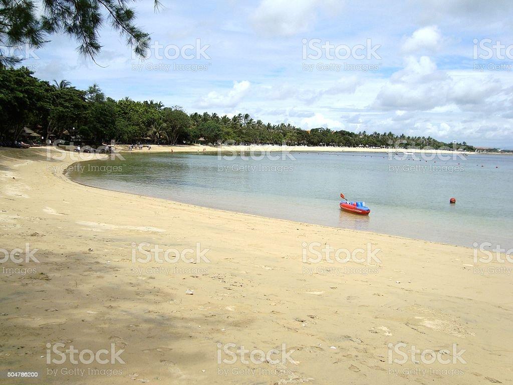 Nusa Dua beach in Bali, Indonesia stock photo