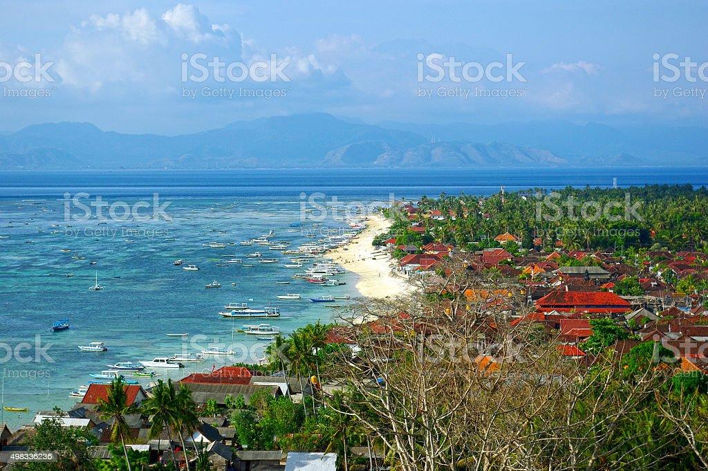 Nusa Lembongan island view stock photo