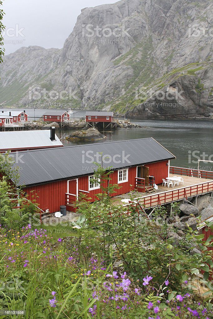 Nusfjord houses royalty-free stock photo