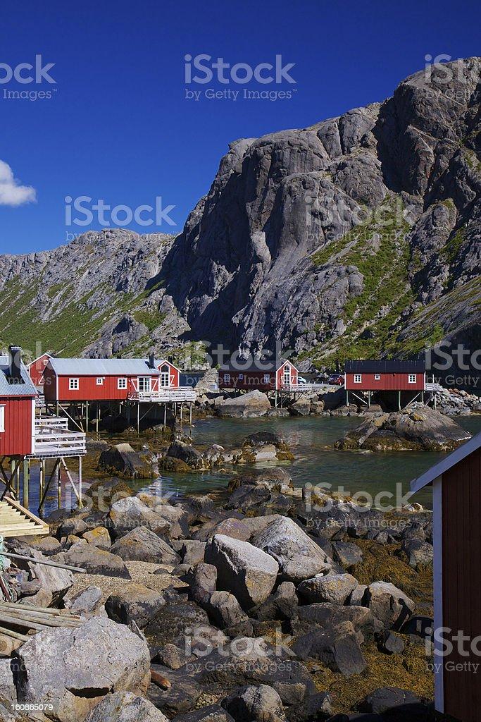 Nusfjord on Lofoten royalty-free stock photo
