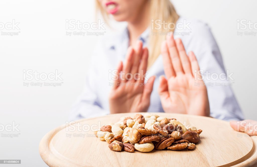 Nut allergies stock photo