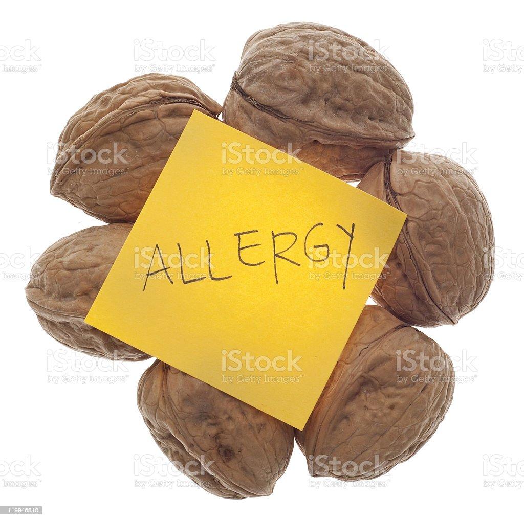 Nut Allergy Warning stock photo