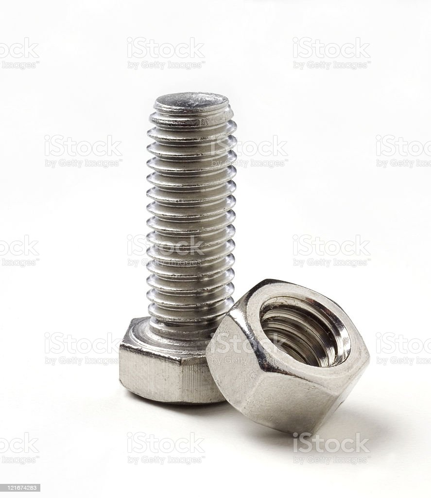 Nut and Bolt royalty-free stock photo