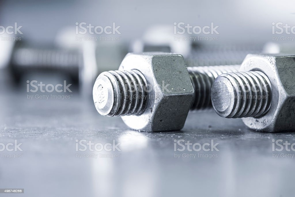 Nut and Bolts stock photo
