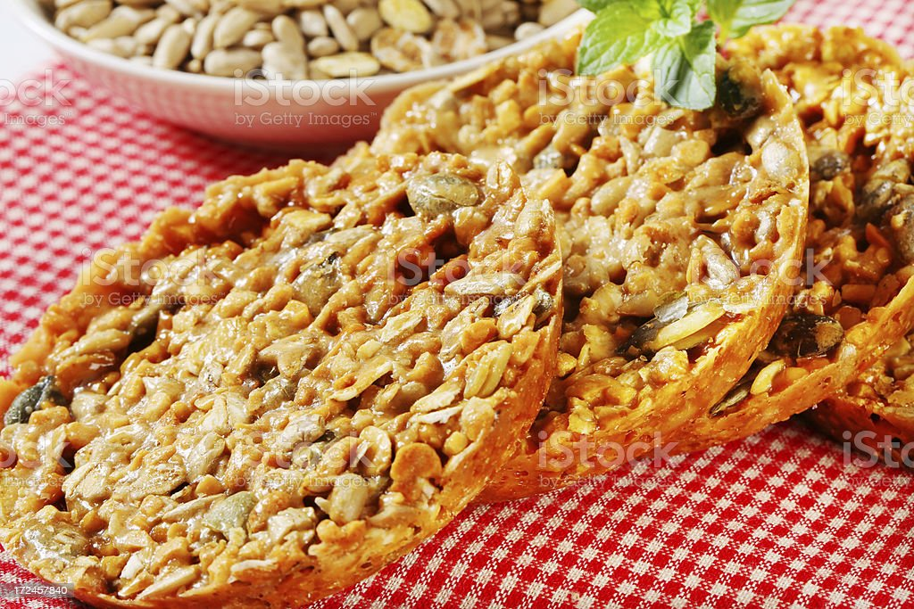 nut and cereal cookies royalty-free stock photo