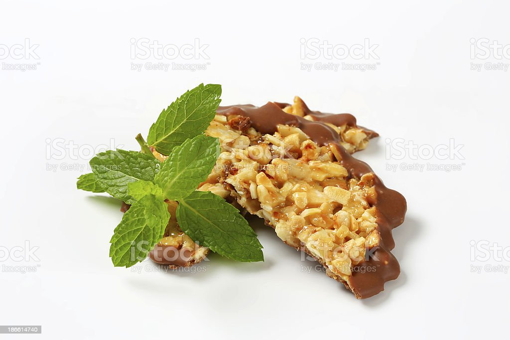 nut and chocolate cookies royalty-free stock photo