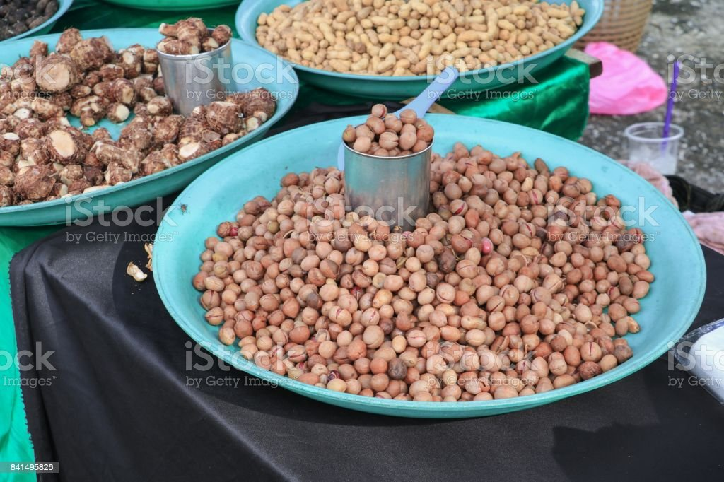 nut boiled  food for health stock photo