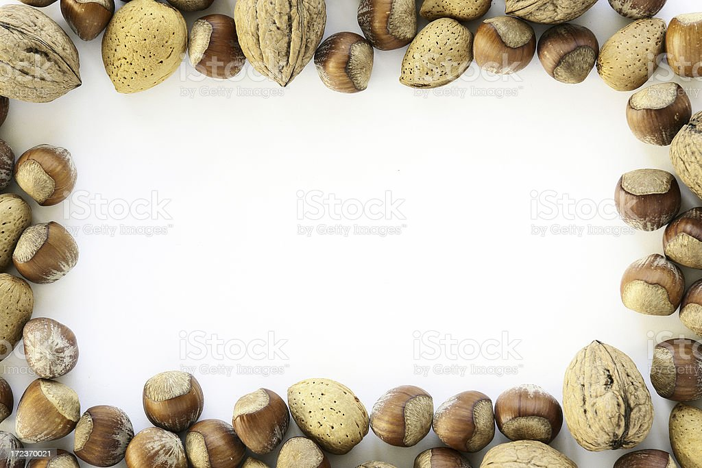 Nut Frame royalty-free stock photo