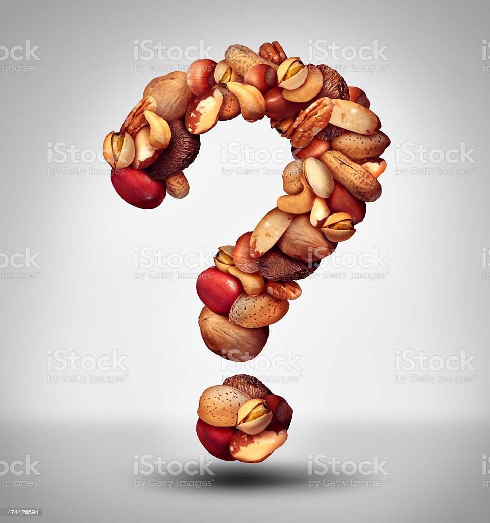 Nut Question stock photo