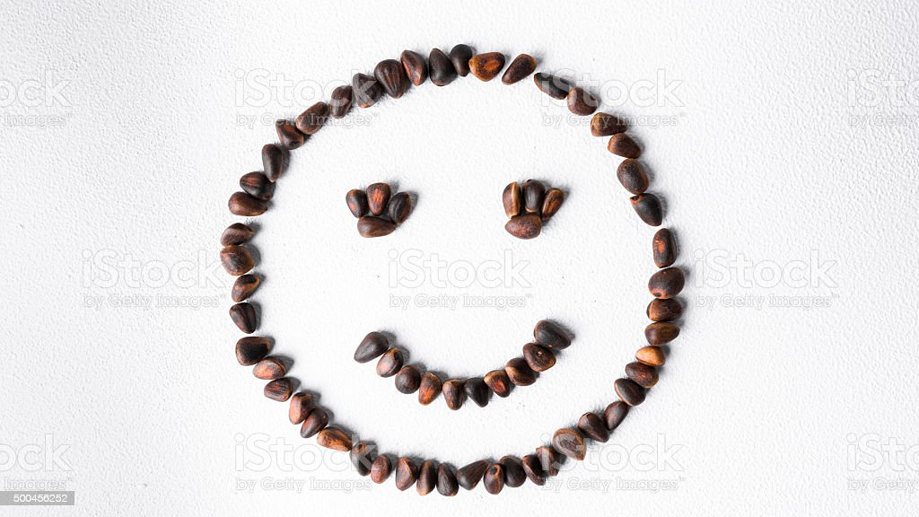Nut smiley stock photo