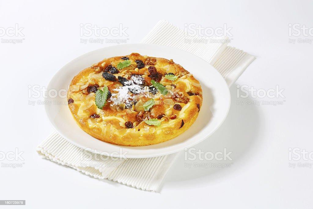 nut tart royalty-free stock photo