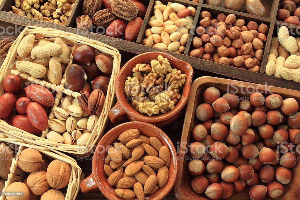 Nut types royalty-free stock photo