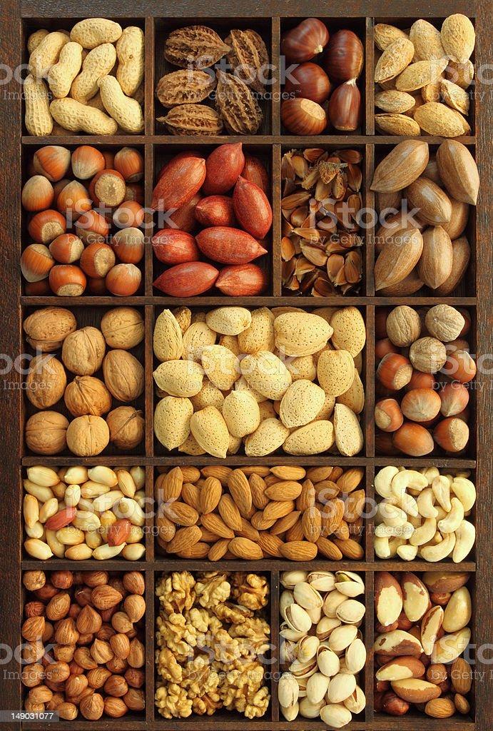 Nut varieties royalty-free stock photo