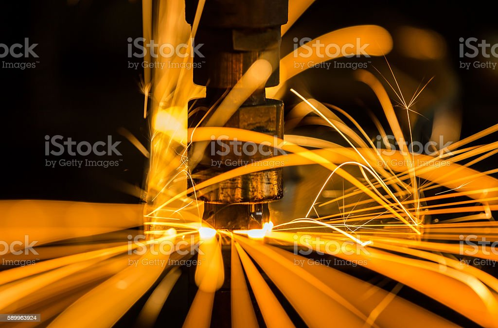 Nut welding stock photo