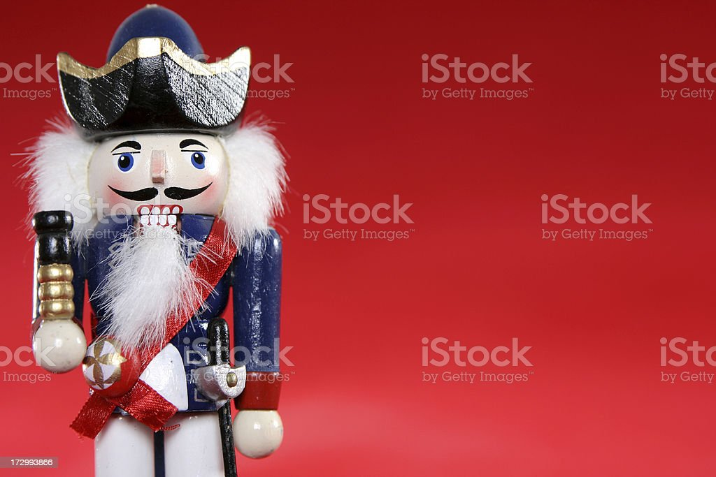 Nutcracker with Copy Space royalty-free stock photo