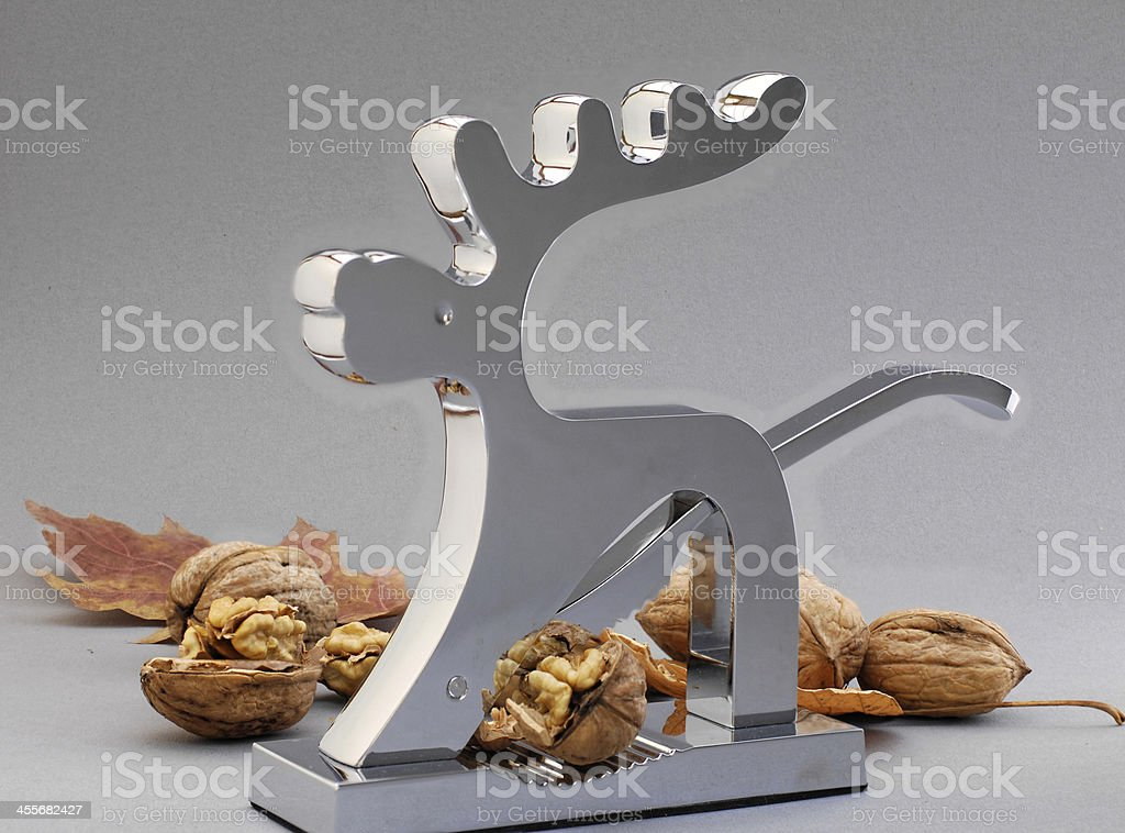 Nutcracker with nuts stock photo