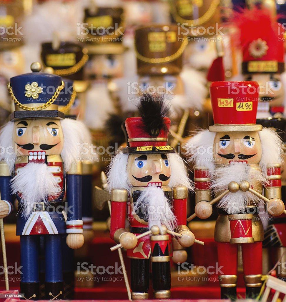 Nutcrackers at Christmas Market in Nuremberg stock photo