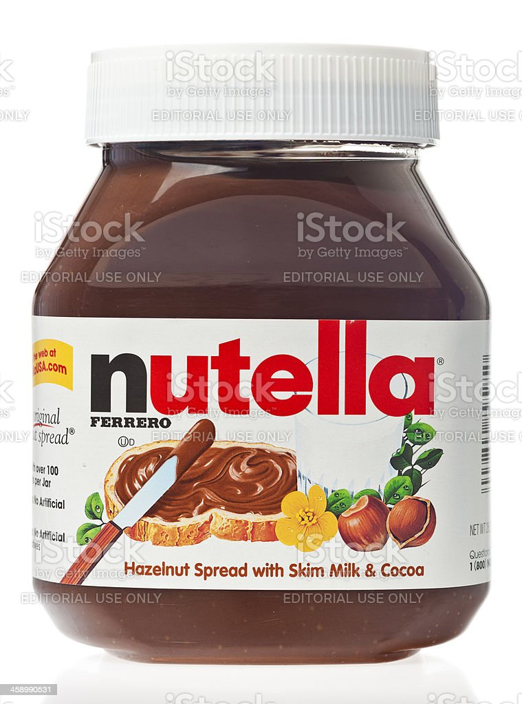 Nutella Hazelnut Spread stock photo