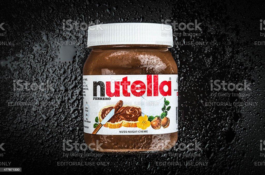 Nutella Hazelnut Spread stock photo