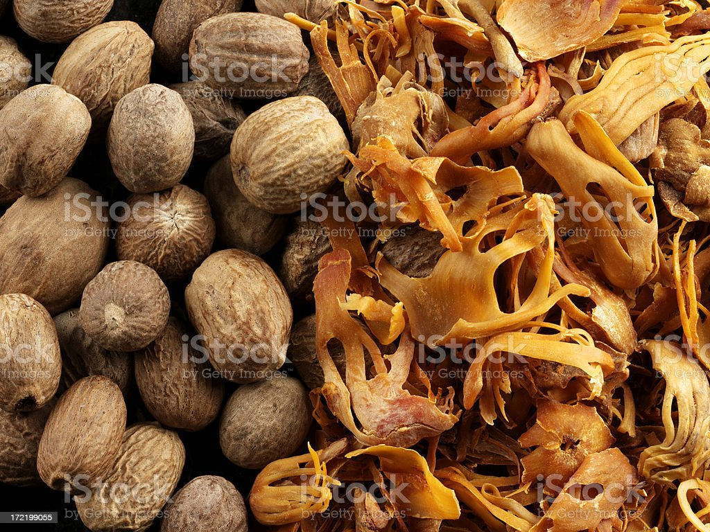 Nutmeg and Mace stock photo