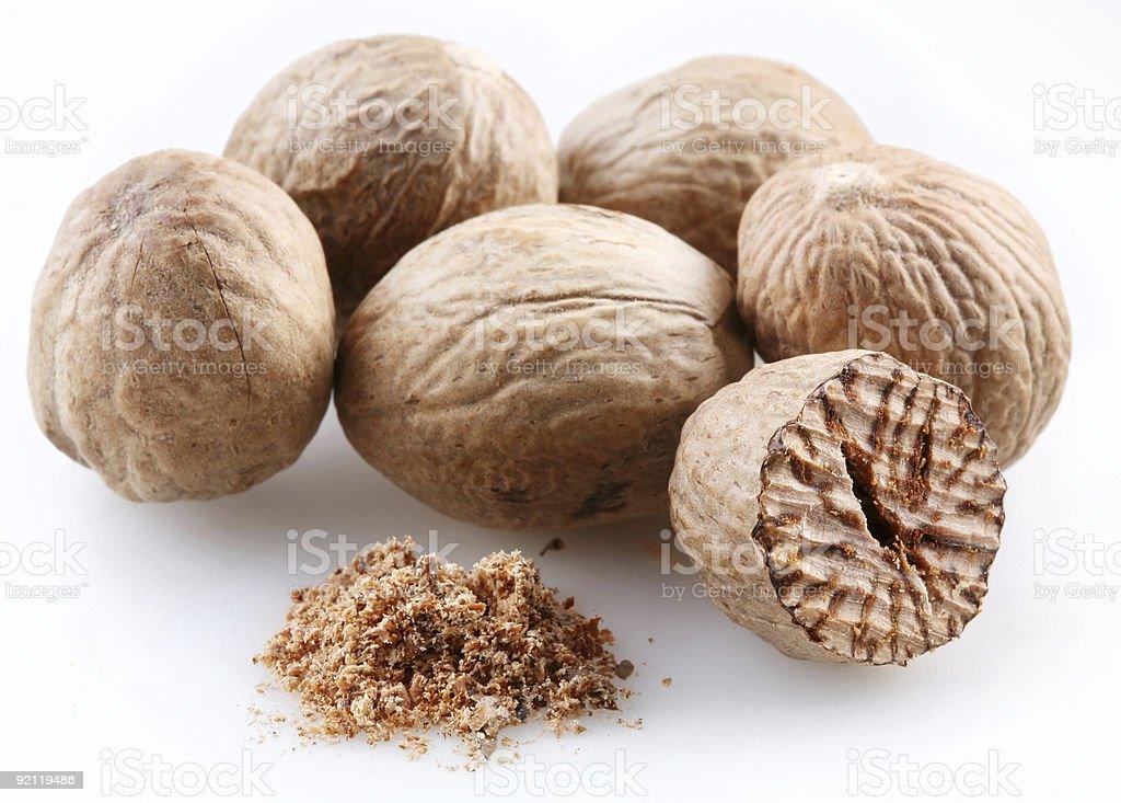 Nutmeg royalty-free stock photo