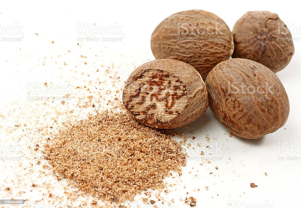 Nutmegs stock photo