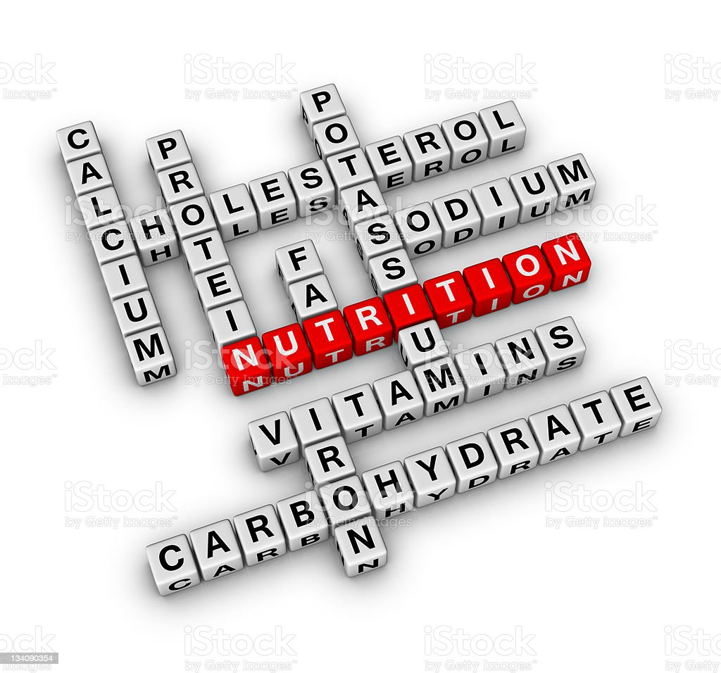 Nutrition Fact Crossword royalty-free stock photo