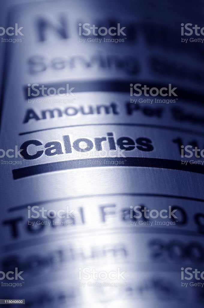 Nutrition Label Close-up of Aluminum Drink Can royalty-free stock photo
