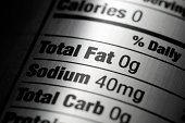 Nutrition Label Close-up of Silver Aluminum Diet Soda Can