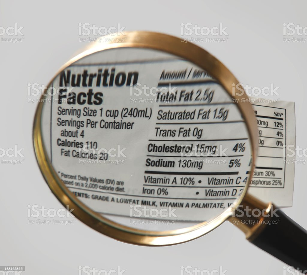 Nutrition Label stock photo