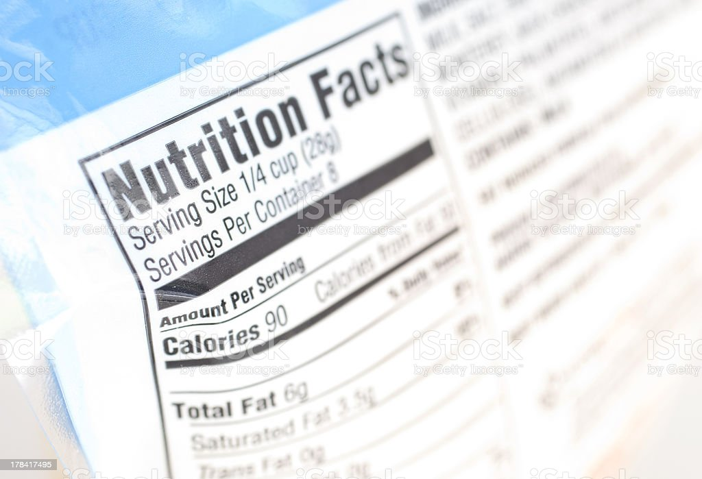 Nutrition stock photo