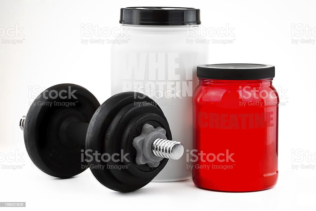 Nutritional Supplements For Muscle Growth royalty-free stock photo