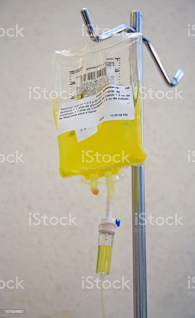 Nutritional Vitamin C Intravenous Drip stock photo