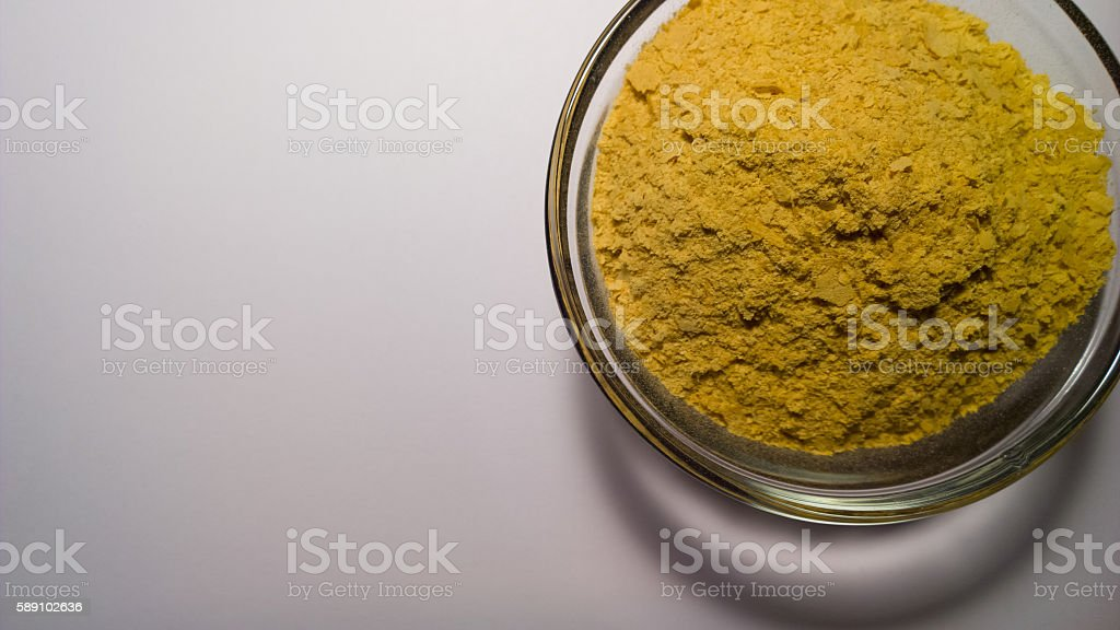 Nutritional Yeast in Prep Bowl stock photo