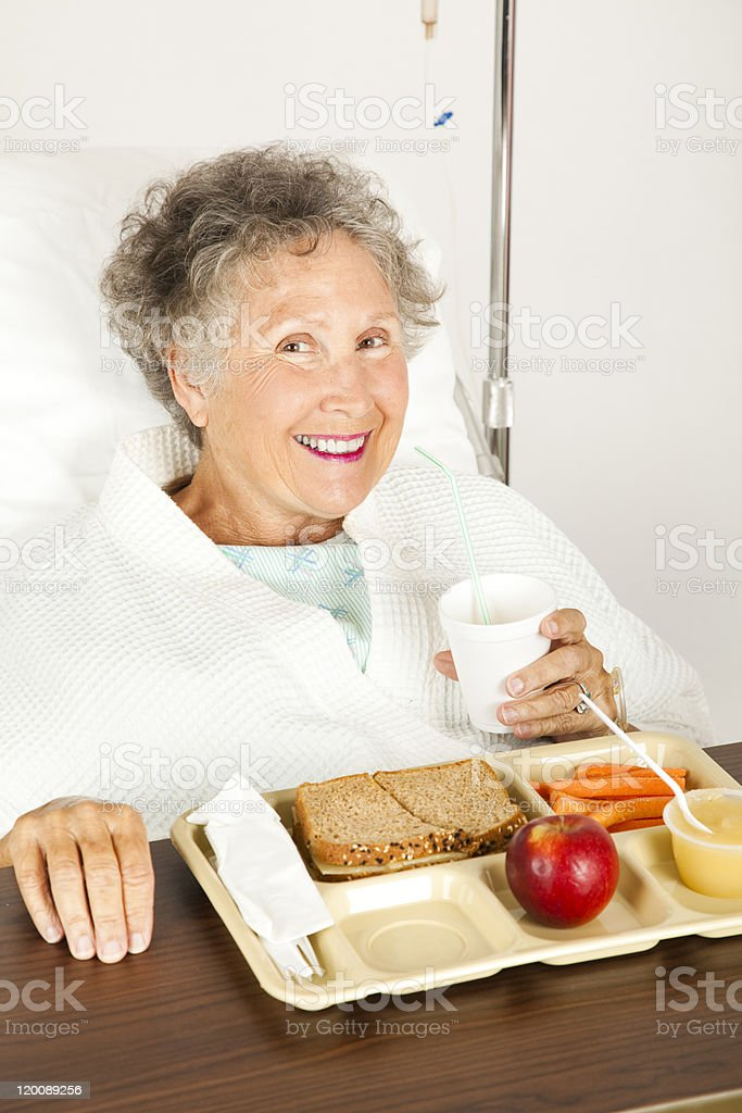 Nutritious Hospital Lunch royalty-free stock photo