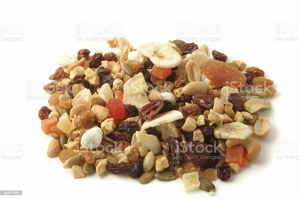 nuts and fruits royalty-free stock photo