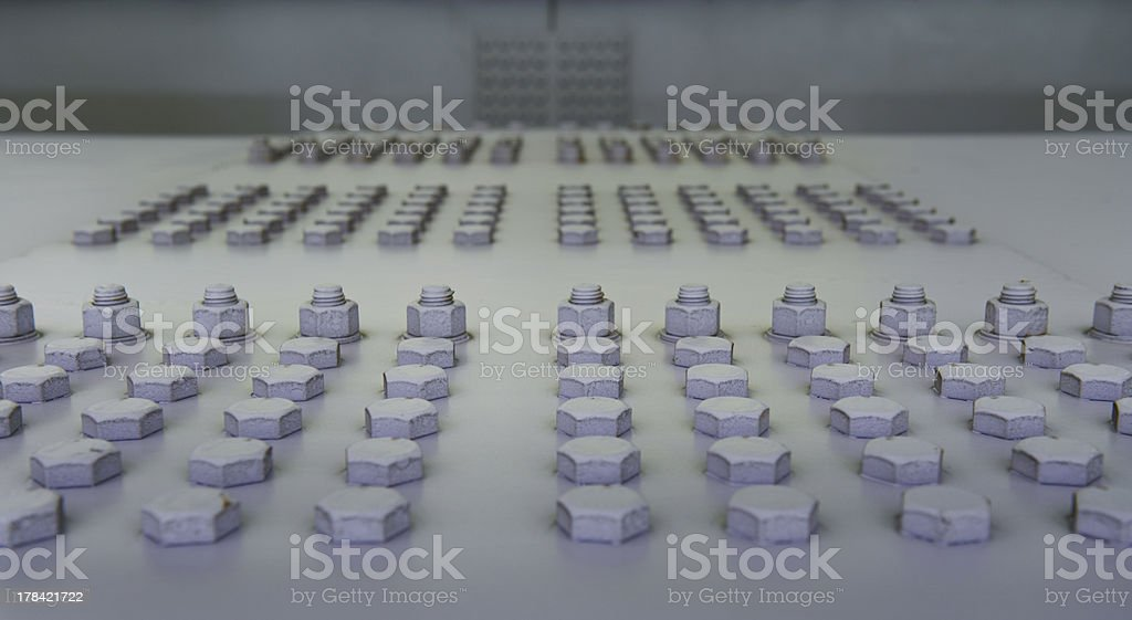 Nuts and screws royalty-free stock photo