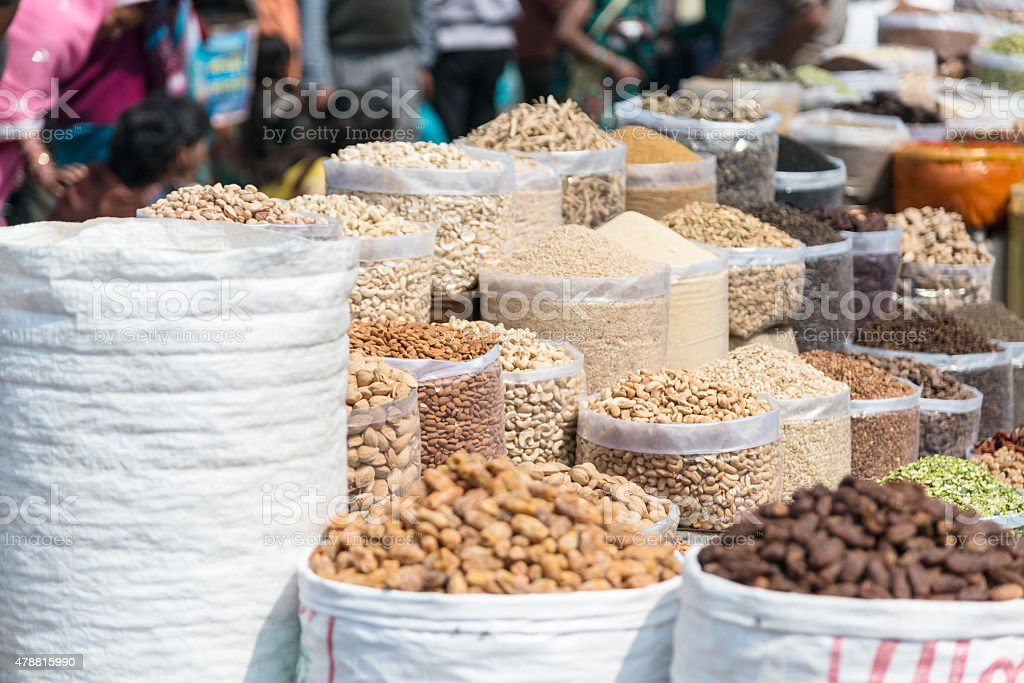nuts and seeds for sale stock photo