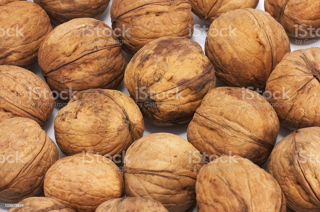Nuts background stock photo