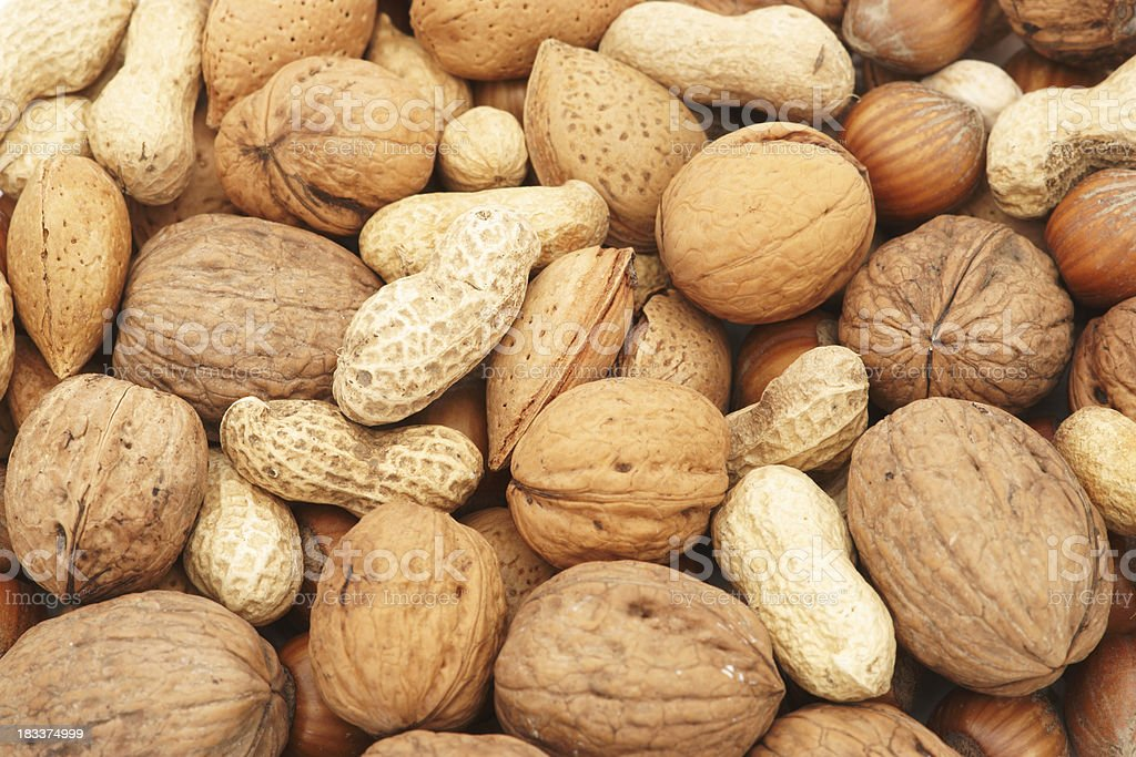 Nuts background royalty-free stock photo