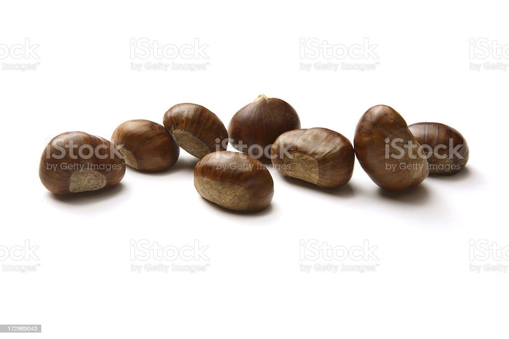 Nuts: Chestnuts royalty-free stock photo