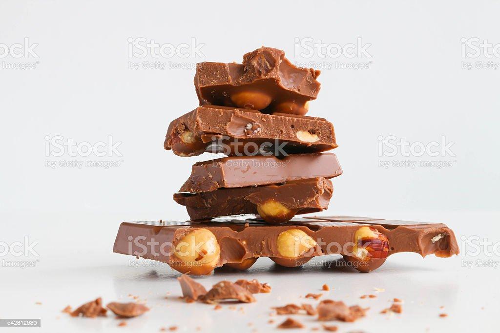 Nuts Chocolate stock photo
