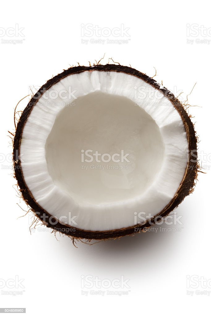 Nuts: Coconut Isolated on White Background stock photo