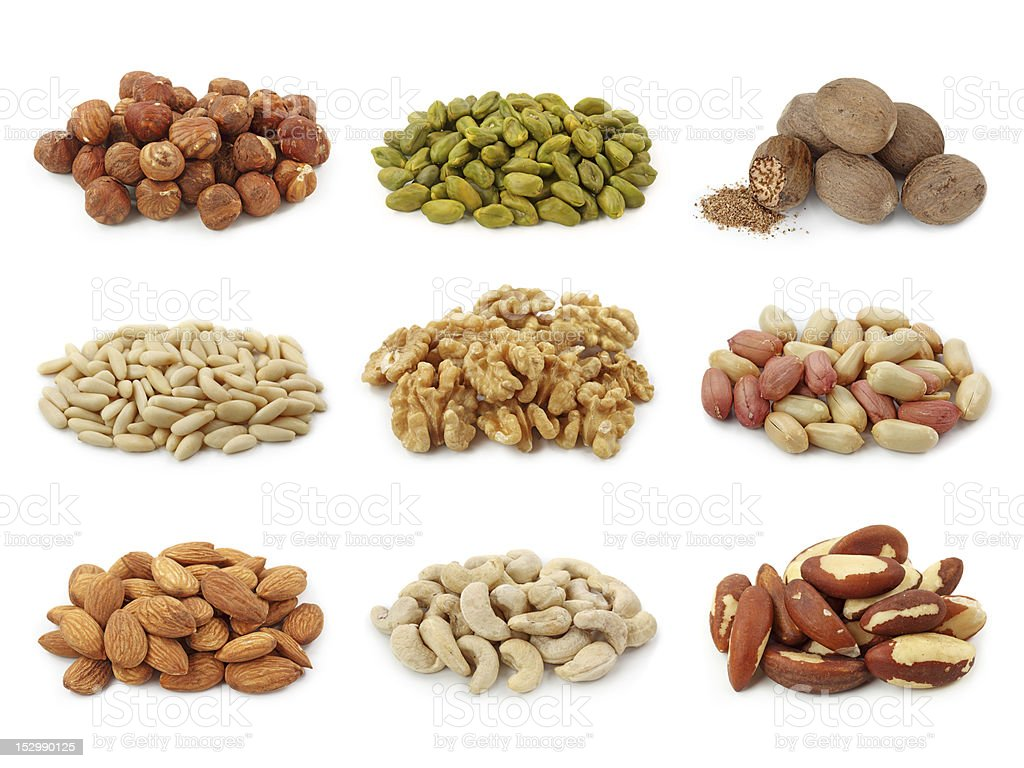 Nuts collection stock photo