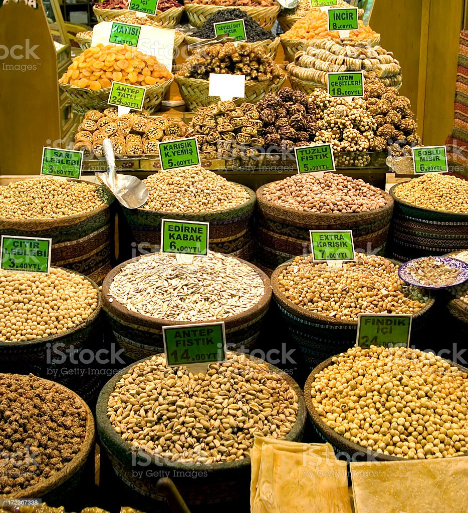 Nuts for sale royalty-free stock photo