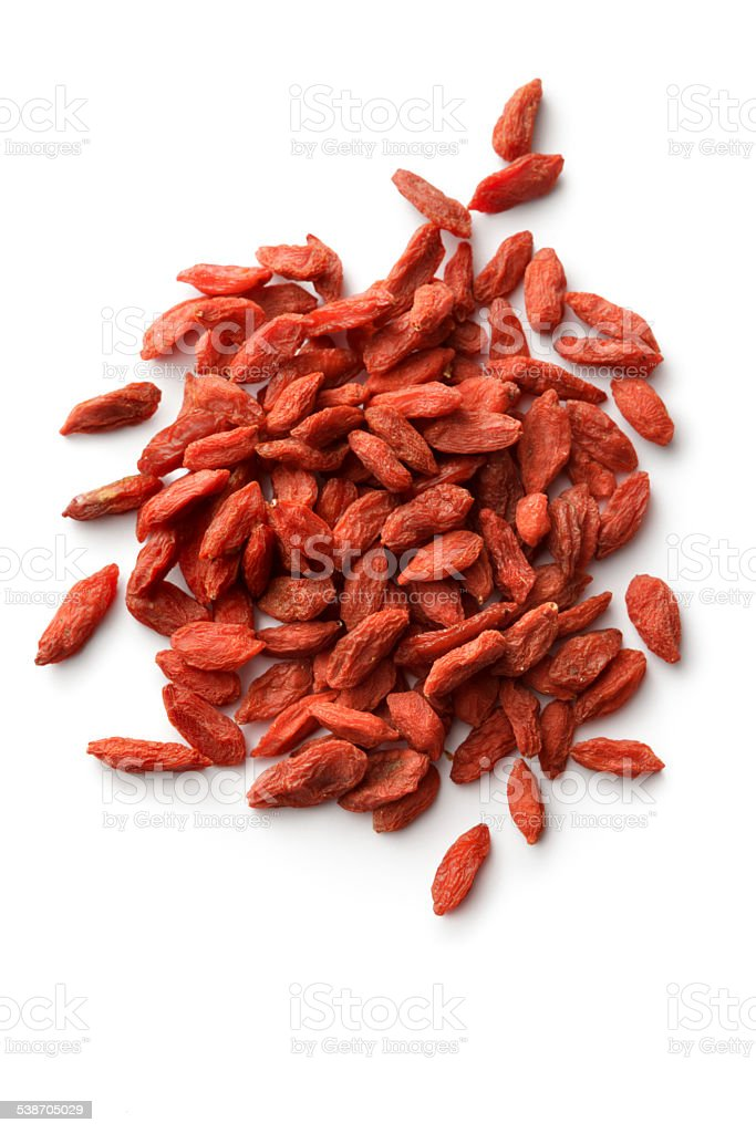 Nuts: Goji Berry Isolated on White Background stock photo