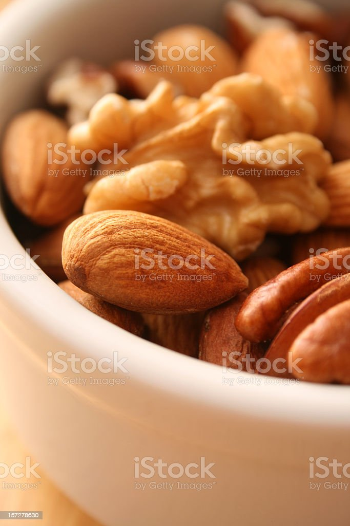 Nuts in bowl royalty-free stock photo
