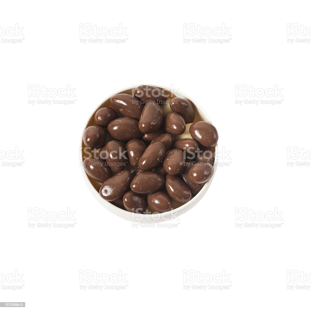 nuts in chocolate stock photo