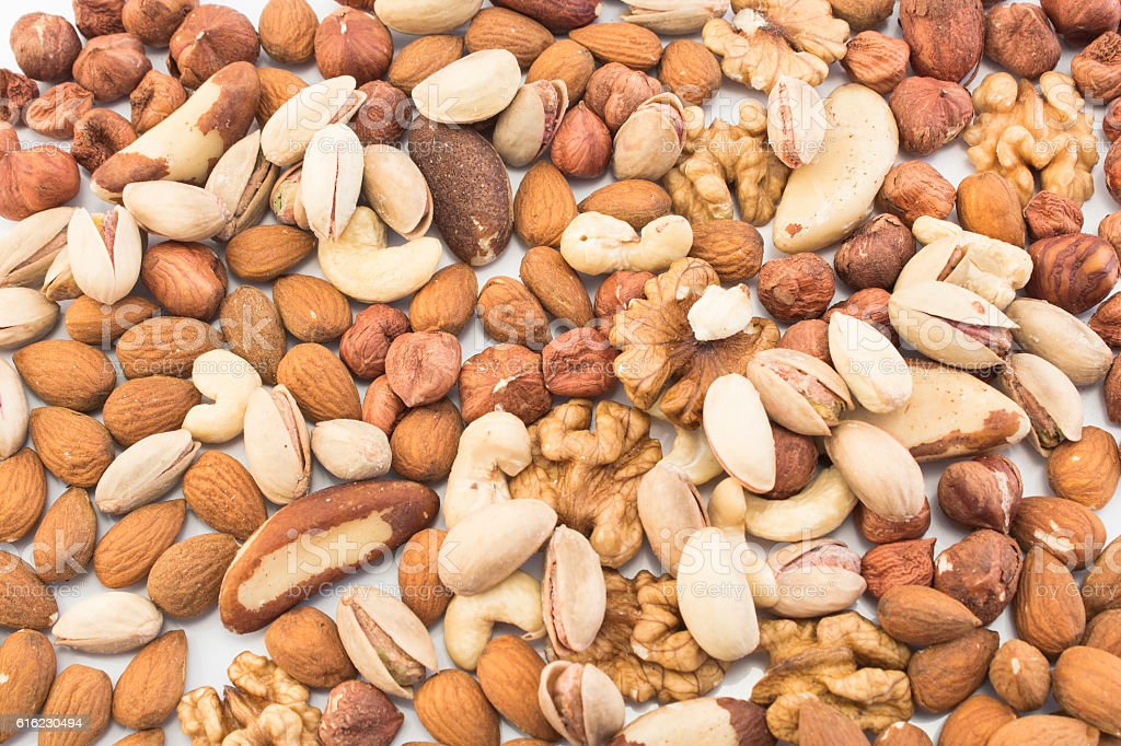 Nuts Mix as Background stock photo
